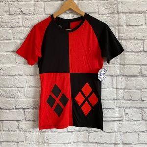 Harley Quinn Red/ Black Harlequin T-Shirt